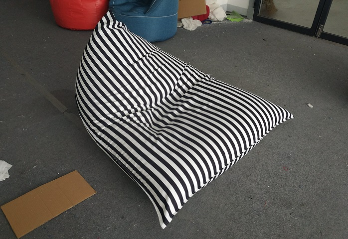 Various stripped Triangle Beanbag chair