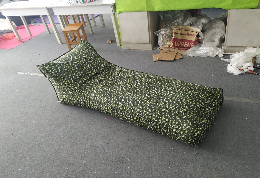 Camouflage lying Bean bag chair